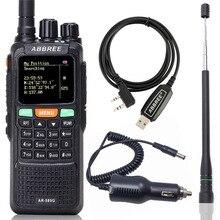 ABBREE AR 889G  Walkie Talkie GPS SOS 10W Night Backlight Duplex Repeater Dual Cross Band Receiving Portable CB Two Way Radio