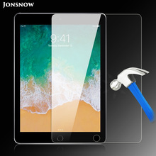 Tempered Glass for iPad 2017 9.7 inch / 2018 Prevent Scratch Tablet Screen Protector HD A1893 JONSNOW