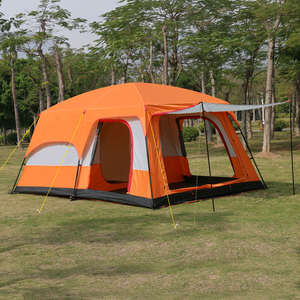 Image 2 - 4Colors Ultralarge 6 10 12 Double Layer Outdoor 2living Rooms and 1hall Family Camping Tent In Top Quality Large Space Tent