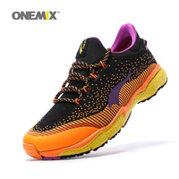 ONEMIX Man Running Shoes For Men Athletic Trainers Black Zapatillas Tennis Sports Shoe Outdoor Walking Sneakers Free Ship 8