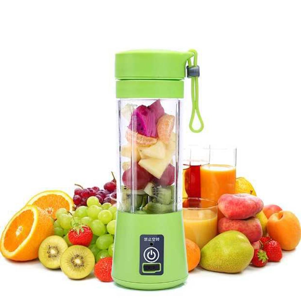 380 ml Tragbare Entsafter Cup USB Aufladbare Saft Flasche Citrus Mixer Zitrone Gemüse Obst Milchshake Smoothie Orangenpressen