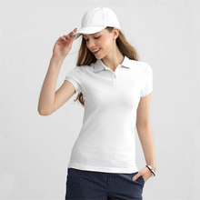 2019 Summer Fashion Polo Shirt Women New Casual Short Sleeve Slim Polos Mujer Shirts Tops Plus Size Female Cotton Polo Shirt(China)