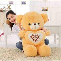 80cm Stuffed Plush Love Heart Teddy Bear Girl Baby Valentine Day Birthday Gift