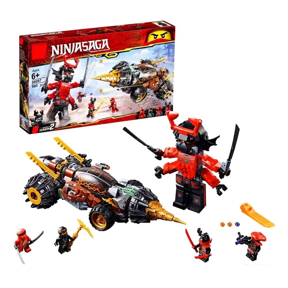 2019 Ninjago Cole s Earth Driller Ninja Building Kit Compatible Ninjago Building Blocks 70669 Toys for