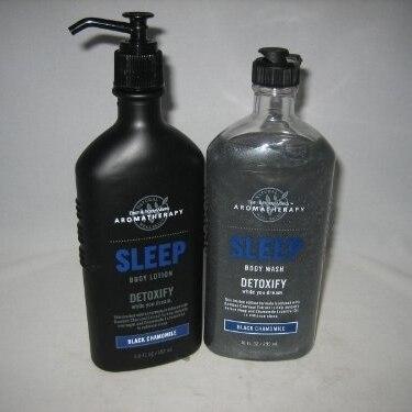 Bath & Body Works Aromatherapy Black Chamomile SLEEP with body wash and body lotion