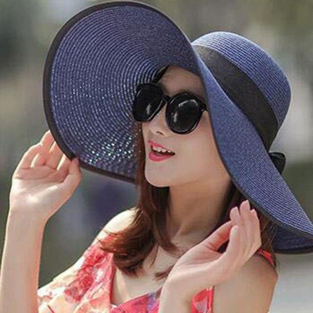2019 Hot Sale Round Top Raffia Wide Brim Straw Hats Summer Sun Hats for Women  With 8862ea1979b