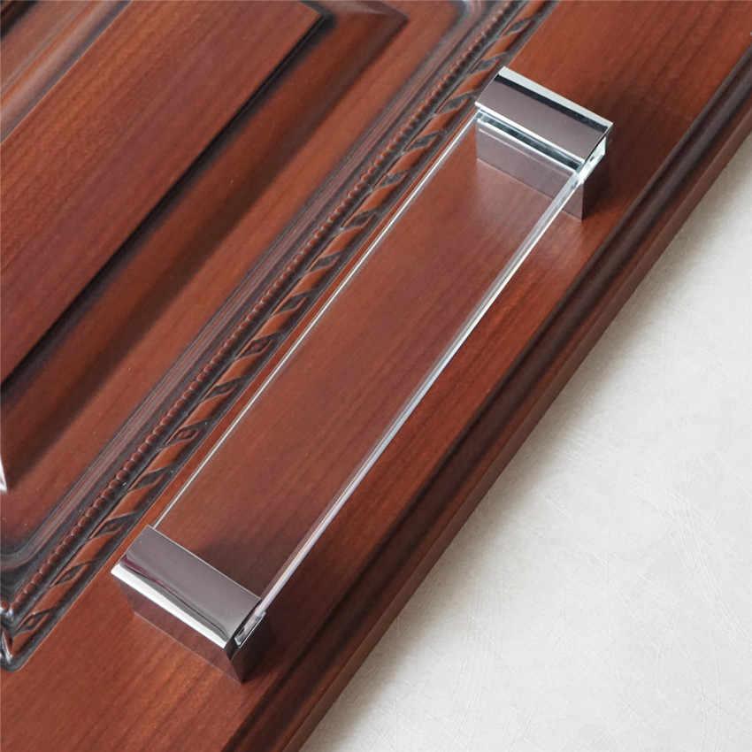 6 3 Acrylic Dresser Pulls Drawer Pull Knobs Glass Look Clear Silver Chrome Kitchen Cabinet Handles Pulls Modern Door Handle 160 Drawer Pulls Knobs Acrylic Dresserpull Knob Aliexpress
