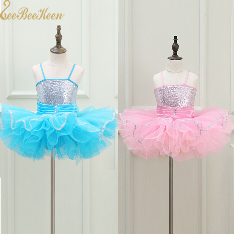 Girls Ballet Tutu Dress Dance Dress For kids Stage sequins Swan Lake Ballet Show Ballerina children Stage Performance Costume