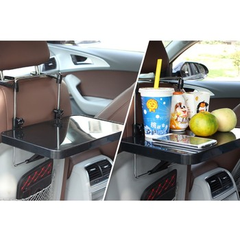 Car SUV Auto Laptop Tray Dining Table Fold Stand Holder Steering Wheel Mount Desk Black/Gray