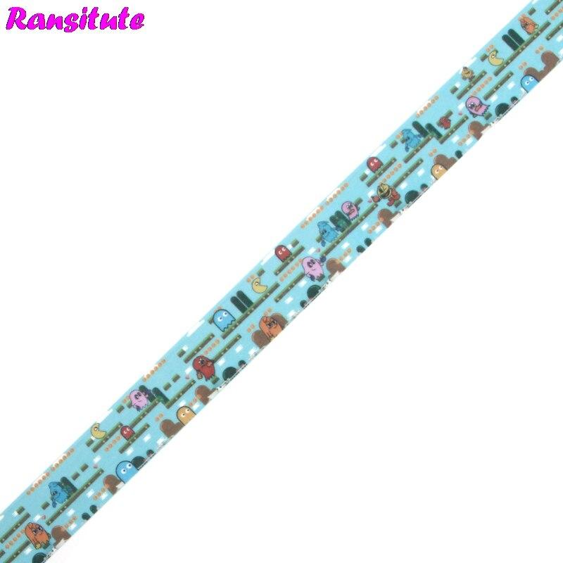 Ransitute R477 Pacman игра мультяшная милая детская игрушка васи лента дорожная лента игрушка украшение автомобиля ручной счет наклейка