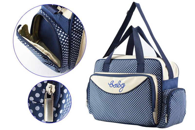 MOTOHOOD Baby Diaper Bag Organizer Baby Care Carriage Bag For Stroller Fashion Dot Multifunction Baby Bags For Mom 451530cm (2)
