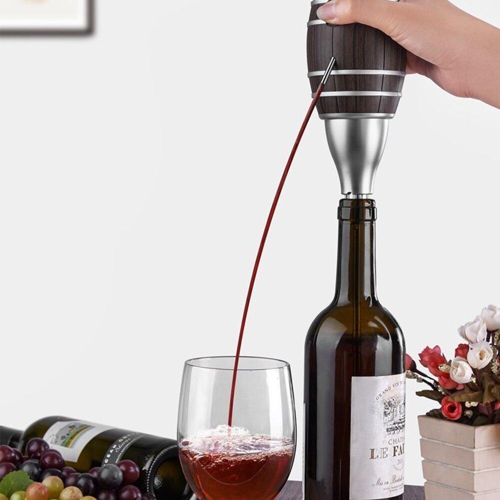 Atacado Em Forma de Barril de Vinho Pourers Garrafa De Suco Garrafa de Vinho Pourer Aerador Decanter Aerador Bomba de Cidra Elétrico Para A Família Bar