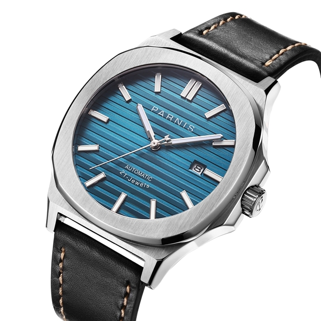 Parnis 42mm Mechanical Mens Watches Automatic Men watch Clock Top Brand Luxury Diver Sapphire Crystal Relogio Masculino 2019