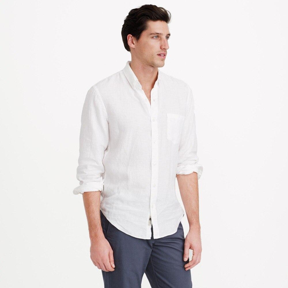 White Linen Shirts Men Linen Shirt Tailor Made,Custom Mens White Linen Shirts For Men Slim Fit Men's Linen Shirts Long Sleeve