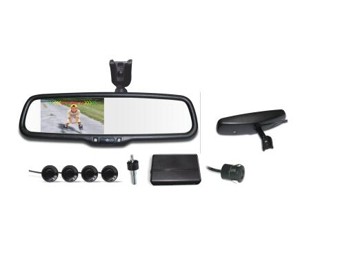 4.3 LCD Car Rear View Replacement Mirror Monitor with Rear Backup Camera visible park sensor System Kit + Bracket for Golf 4 бутсы nike mercurial vortex iii neymar fg 921511 407