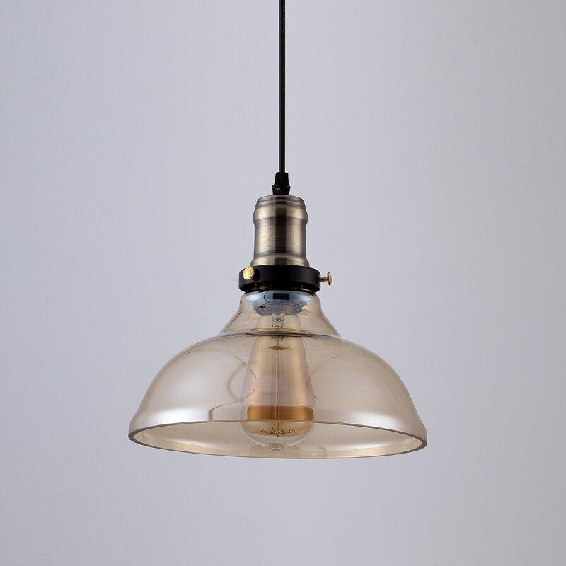 Suspension vintage américaine en verre clair suspension cloche suspension E27 110 V 220 V pour salle à manger décor à la maison planétarium - 5
