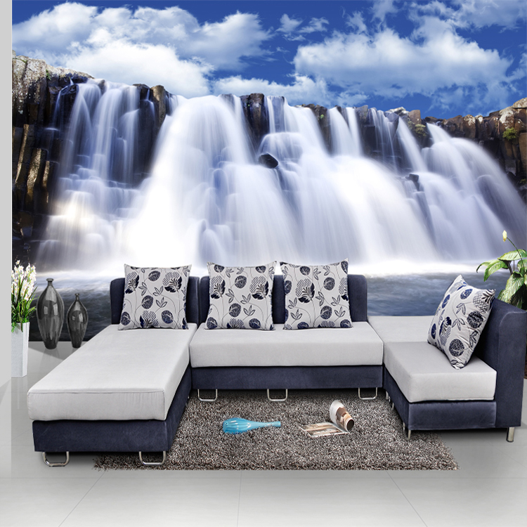 Wholesale 3d waterfall Mural chinese style murals landscape wall mural living room background photo murals wallpaper wholesale car murals 3d wall photo murals wallpaper of automotive center stack for bedding room background 3d wall murals fresco