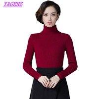2017 Winter New Korean Women High Collar Sets Of Sweaters Slim Warm Knitted Sweater Women Thicken