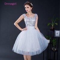 לבן 2018 שמלות שיבה הביתה אונליין שווי שרוולים קצרים מיני טול פאייטים Sparkle שמלות קוקטייל אלגנטיות