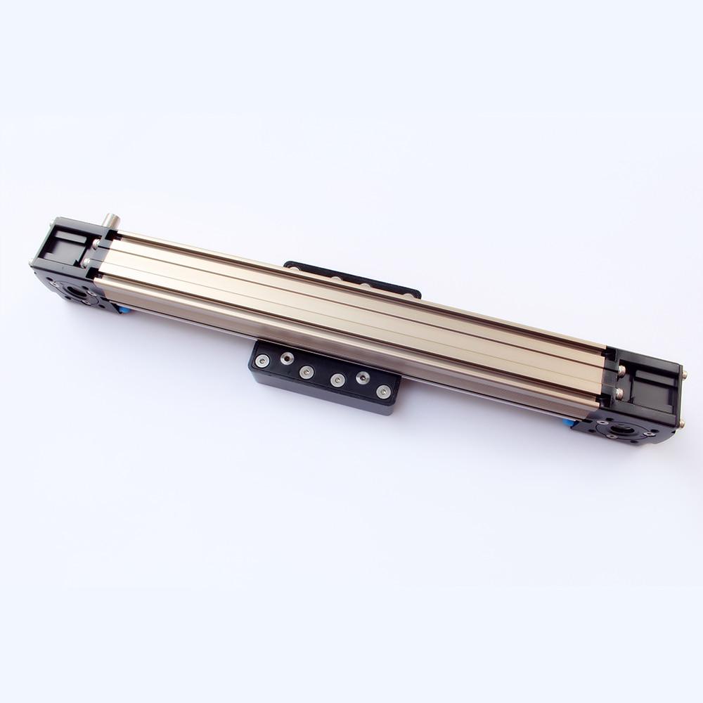 Guide linéaire de ceinture de CNC 50-300mm actionneur linéaire de rail de glissière de guide linéaire d'entraînement de courroie de CNC avec la base de moteur de NEMA23