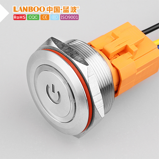 30mm single double pole dpdt pushbutton switch door diagram with light  12v24v220v