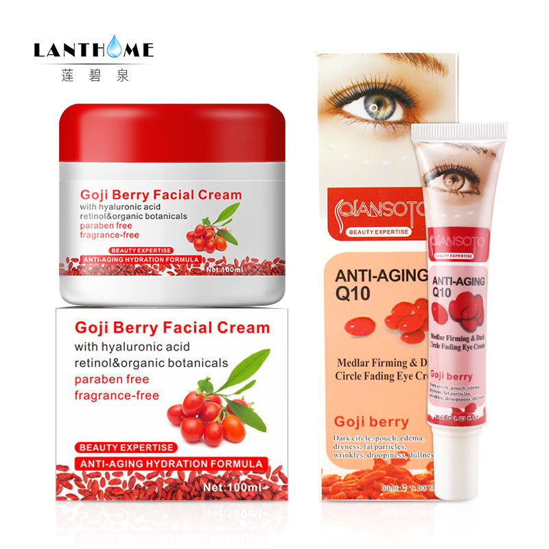 Original goji facial cream eye cream Goji cream face Whitening skin care Anti wrinkle eye cream Remove dark circles under eyes цена 2017