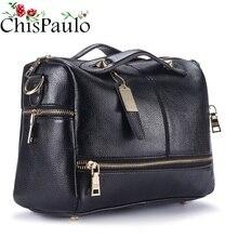 Chispaulo Berühmte Marken Designer-handtaschen Hoher Qualität Patent Frauen Echtem Leder Handtaschen Mode frauen Umhängetaschen X39