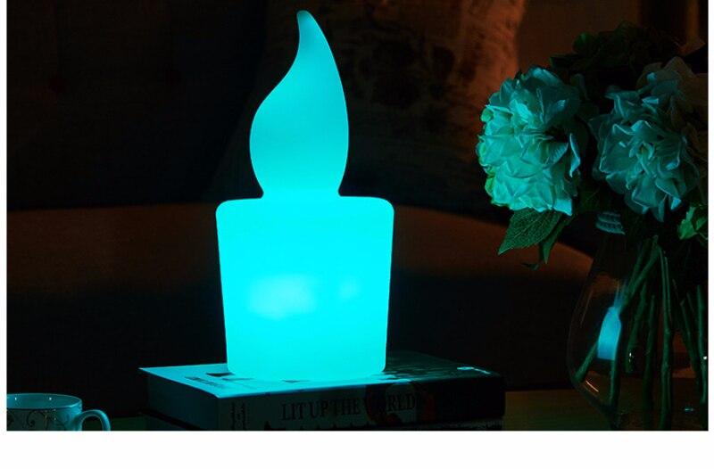 Креативная свеча с дистанционным управлением светодиодный ночник USB зарядка бар Спальня отель кабинет красочный rc Светодиодный светильник Настольная лампа наружная лампа - 5