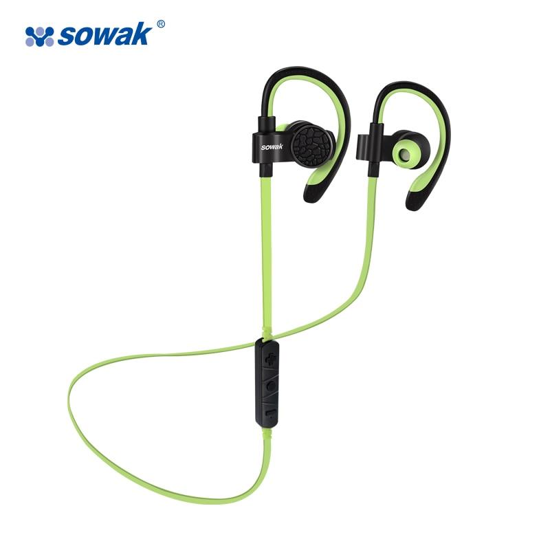 Sowak Q7 headphone bluetooth wireless sport in ear headphones V4.1 Stereo Bass Portable Ear Hook Earphones with mic for phone цена