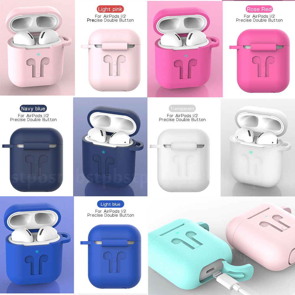 For Apple Airpods 2 Case Soft Silicone Earphone Cases For Airpods 1 Air Pods Cover Anti-knock Full Protection Shell Coque Fundas