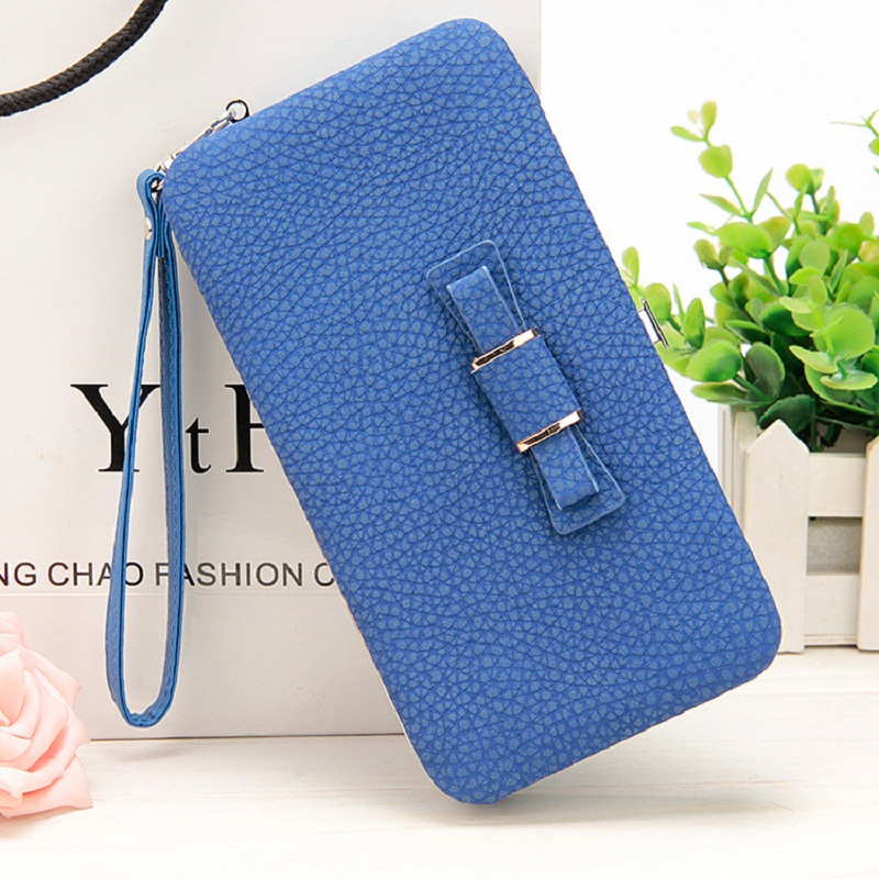 New style women's bow letter pencil case wallet Ms. Lunch box style purse Mobile Phone Bags Free Shipping 1330