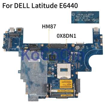 KoCoQin Laptop motherboard For DELL Latitude E6440 HM87 Mainboard CN-0X8DN1 0X8DN1 VAL90 LA-9931P