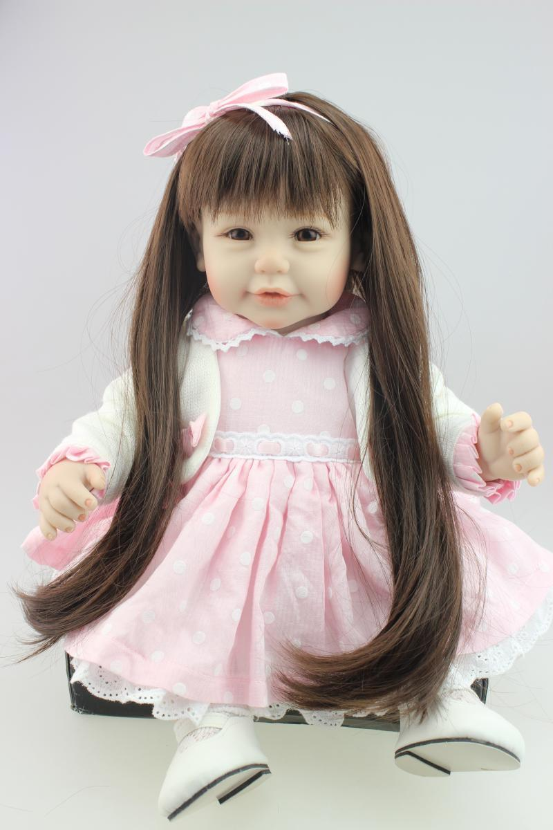 Nicery 20inch 50cm Magnetic Mouth Reborn Baby Doll Hard Silicone Lifelike Toy Gift for Children Christmas Present White Coat nicery 18inch 45cm reborn baby doll magnetic mouth soft silicone lifelike girl toy gift for children christmas pink hat close