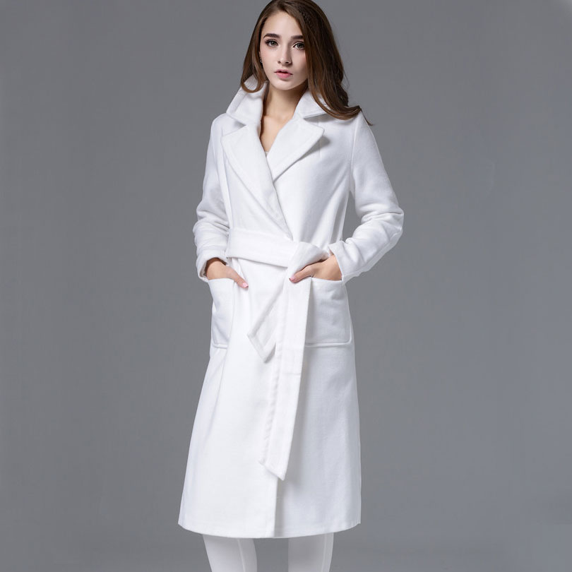 Winter White Wool Coat