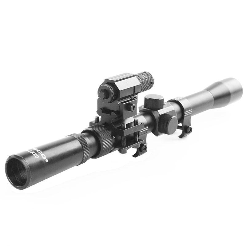 Softair-Gewehr 3-7x20 Zielfernrohre + Jagd-Rotlaser-Zielfernrohr + - Jagd - Foto 5
