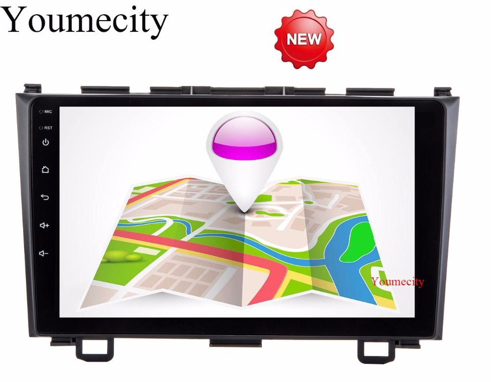 Youmecity Car dvd player GPS Navi For Honda CRV 2006-2011 Capacitive screen 1024 *600 +wifi+BT+SWC+RDS+Android 6.0+2G RAM+4G joyous j 2823a 6 2 android 4 2 2 dual core car dvd player for honda city crv fit more black