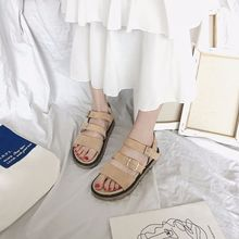 Flat Basic Buckle Strap Summer Gladiator