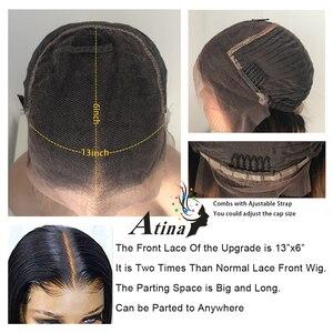 Image 5 - Kısa künt kesim derin kısmı 13x6 görünmez dantel ön kıvırcık Bob İnsan saçı peruk hint Remy önceden koparıp ve ağartılmış knot kapatma