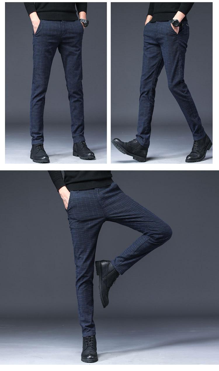HTB1MhX3XOfrK1RjSspbq6A4pFXaV 2019 New Design Upscale Casual Men Pants Cotton Slim Male Pant Straight Trousers Fashion Business Pants Men Plus Size 38