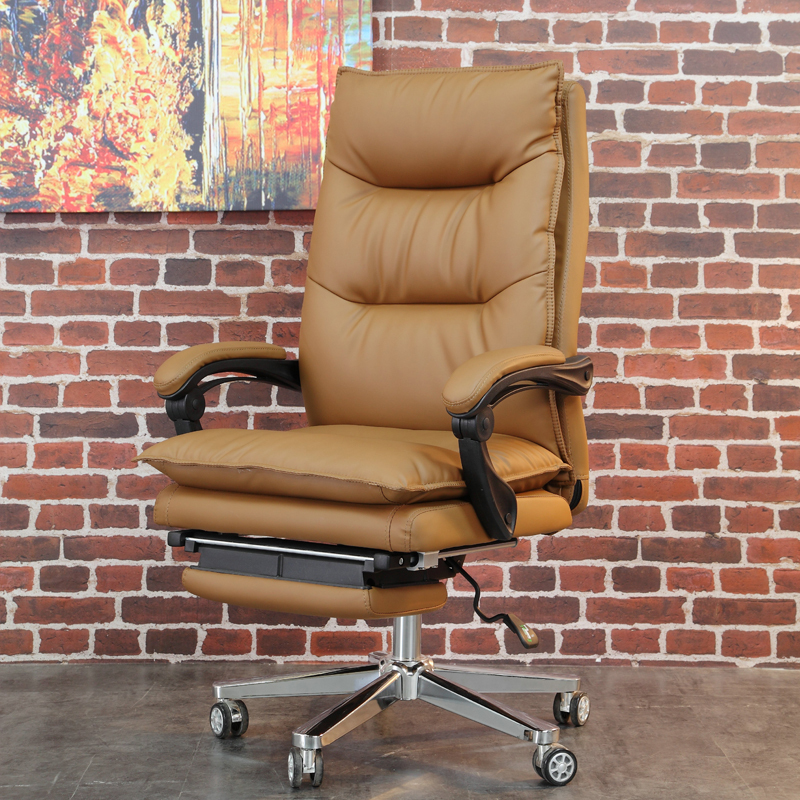 High Quality Office Home Gaming Boss Chair Yellow Color Soft Leather Computer Recliner Chair With Footrest Office Chairs Aliexpress