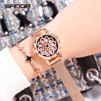 wrist watches for women 2019 purple blue rose gold watch girls top brand luxury alloy stainless steel magnet watch free shiping