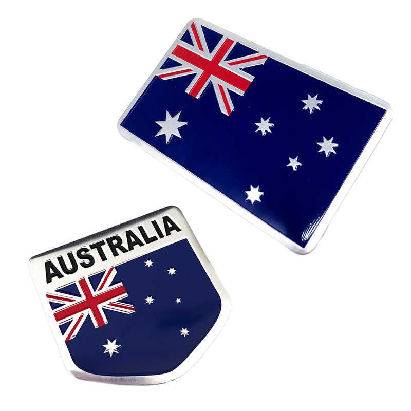 Aluminiowa metalowa narodowa flaga australii zawieszenie naklejka Auto motocykle kratka zderzak zewnętrzne akcesoria do dekoracji
