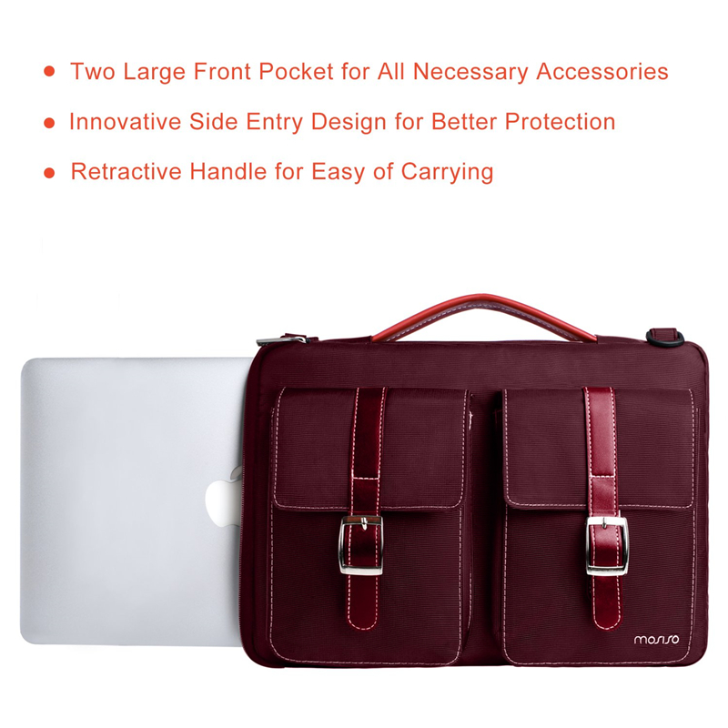 Image 4 - MOSISO Laptop Bag 13.3 14 15 15.6 Inch Waterproof Notebook Bag for Macbook Air Pro 13 15 Computer Shoulder Handbag Briefcase Bag-in Laptop Bags & Cases from Computer & Office
