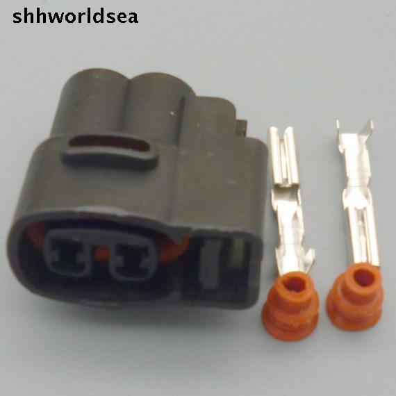 Shhworldsea 5/30/100set 2pin  2.0mm For Kia Ignition Coil Ignition Connector Plug Fuel Injector Connector Wiring Harness Plugs