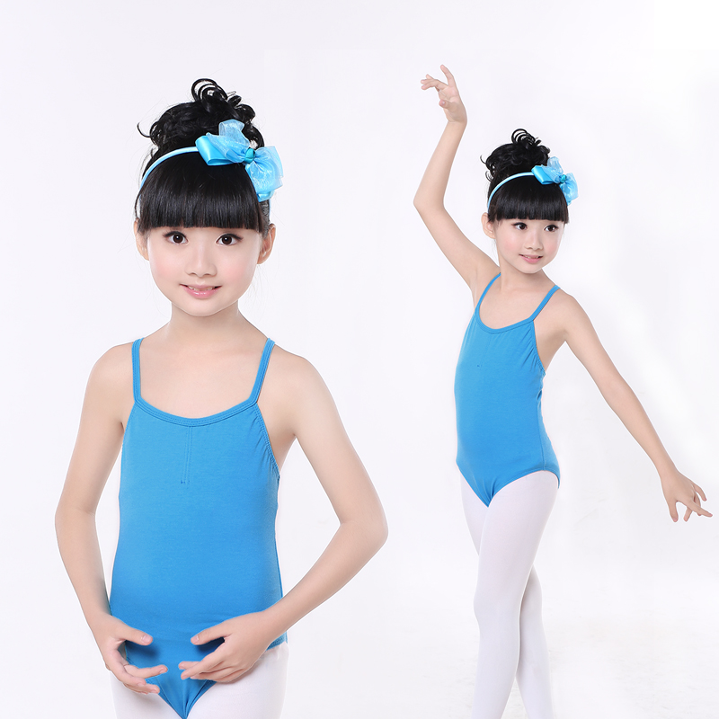 Discount Girls Kids Toddler Cotton Single/Double Cross Back Dance Ballet Leotard Children Ballet Leotard For Girls