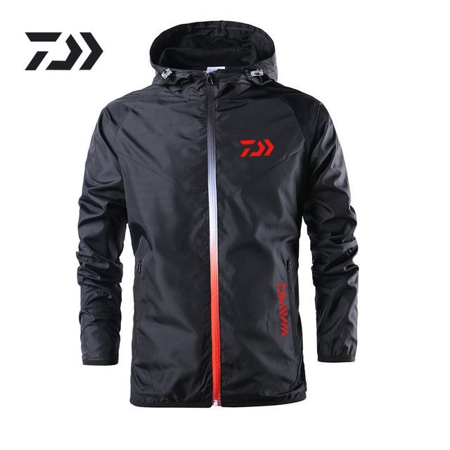 New 2019 Summer Fishing Jacket Daiwa Fishing Jacket Camouflage Thermal Waterproof Clothing Windproof Soft Shell Fishing Coat in Hiking Jackets from Sports Entertainment