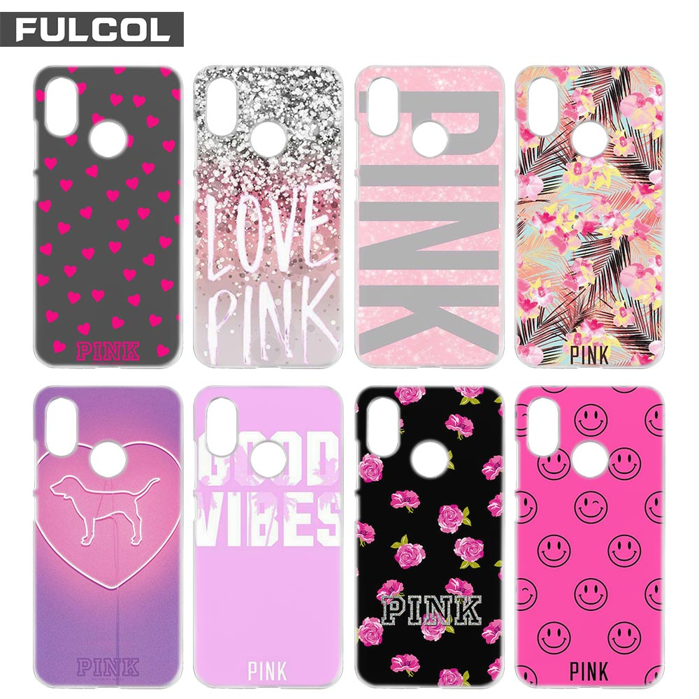 Fulcol Pink Victoria Secret Background Fashion Shell Case Cover Para For Xiaomi Redmi Note 3 4 4X 5 Puls 4A 5A Pro