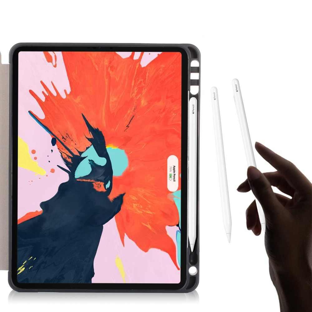 """Для нового iPad Pro 11 """"2019 релиз чехол карандаш держатель ультра тонкий ударопрочный PU кожаный тройной Бумажник Стенд чехол для iPad Pro 11 чехол"""