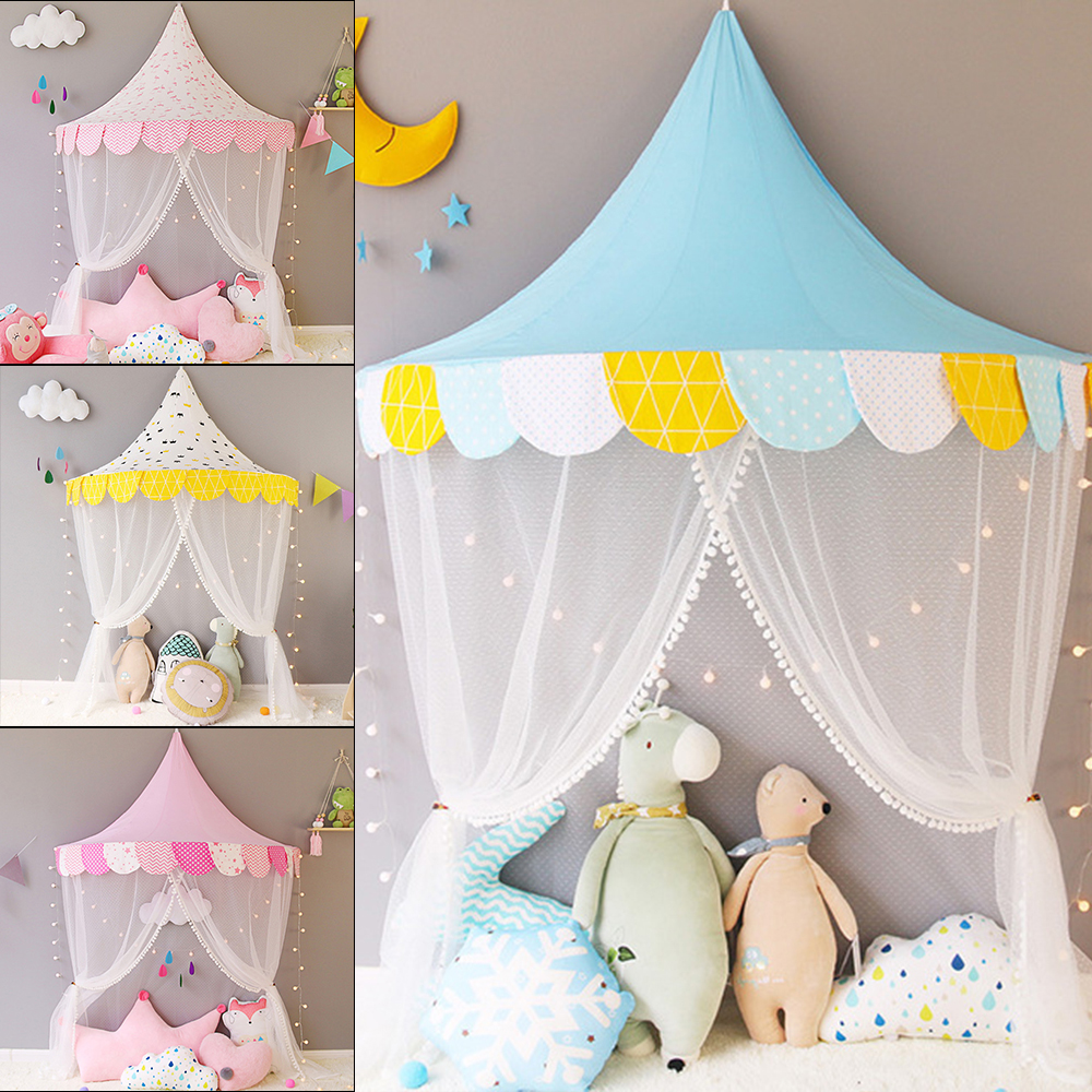 Children Tent Cotton Play Tent For Kids Child Teepee Canopy Bed Curtains Baby Cottages Room Decoration Tipi Photography Props image