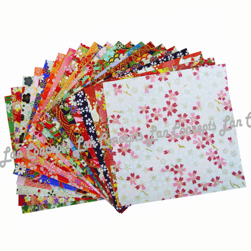 14X14cm Japanese Origami Paper Washi Paper Chiyogami Paper Yuzen paper for DIY gift crafts scrapbook 200pcs